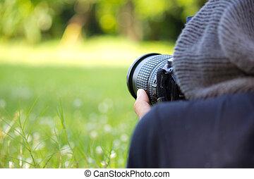 Man using a professional camera 2