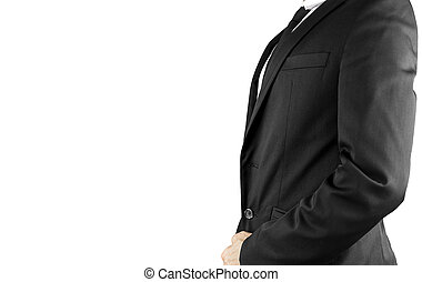 Business suit - Side view of businessman torso in elegant...