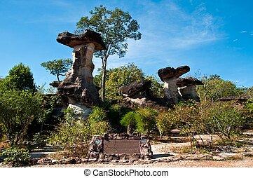 Monolithic giants in Ubon Ratchathani