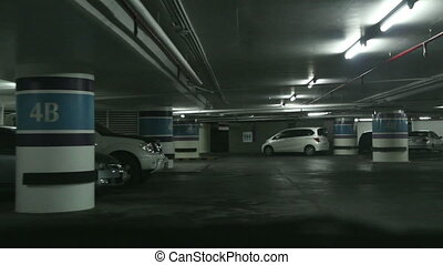 Driving on underground parking