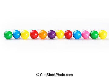 Gumballs border - Colorful gumballs border over white...