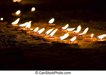 Worship of the lamp - The worship of the lamp on the night...