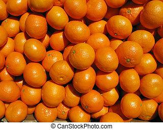 Lots of mandarin oranges.