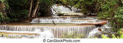 Panorama Tropial Waterfall - Panorama Beautiful Tropial...