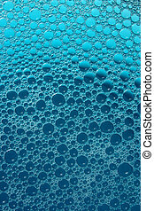 Dark and light blue bubbles