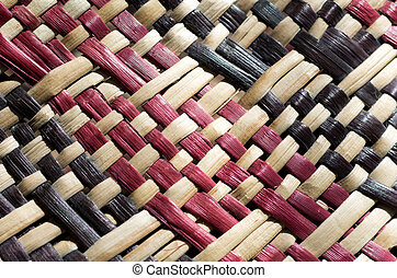 Maori culture - woven flax - Woven flax close up traditional...