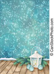 Vector Winter Christmas Scene Background. Xmas landscape...