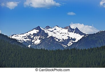 North Cascades Mountains Northern Washington State Mountain...