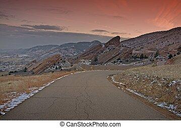 Red Rocks Park near Denver, Colorado, USA. Red Rock Park...
