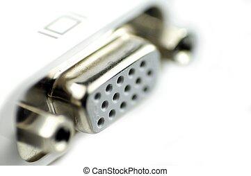 VGA Connector - White VGA - Video Graphics Array Connector...