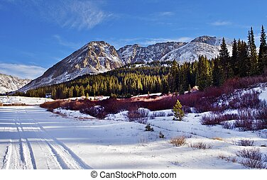 Colorado Scenery. Scenic Colorado Mountains in Early Winter...