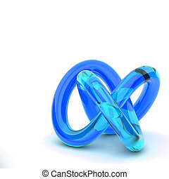 3D rendering abstract knot