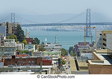 San Franciso Bay Area - San Francisco Bay Area with Bridge...