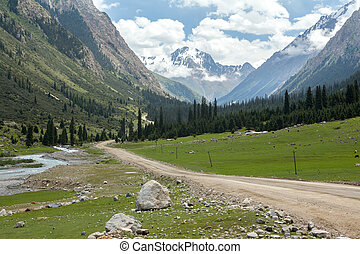 Barskoon Valley in Kirgizstan - Barskoon Valley in Tien Shan...