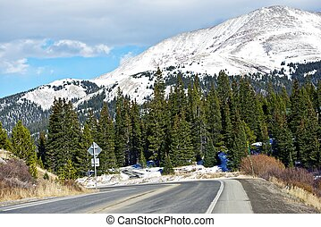 Colorado Mountain Road Between Alma, Colorado and...