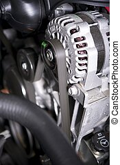 Alternator - Car Alternator Inside Modern Vehicle -...