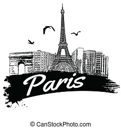 Paris poster - Paris in vintage style poster, vector...