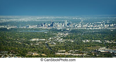 City of Denver Panorama - City of Denver Panoramic View on...
