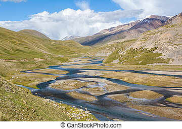 Mountain river Jil-Suu in Kirgizstan - Mountain river...