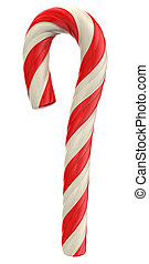 Candy Cane - Candy cane isolated on white background. Image...
