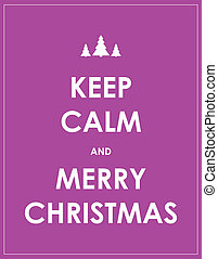 keep calm modern christmas background