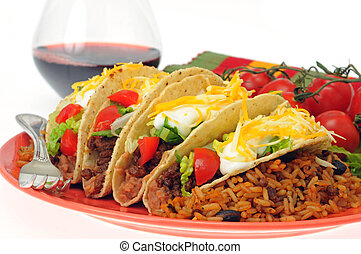 Delicious Tacos - Meal of delicious tacos with mexican style...