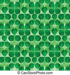 Four leaf clover shamrock luck vector background for card