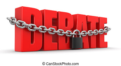 debate and lock  - debate and lock. Image with clipping path