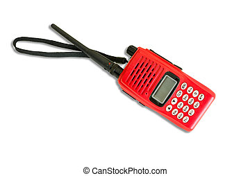 Handheld Tranceiver Red Color isolate on white