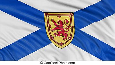3D Nova Scotia Flag - Rendering of flag Nova Scotia with...