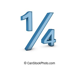 fraction one quarter