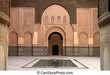 Madrassa in Marrakech - The Ali Ben Youssef Madrassa in...