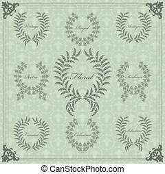 Vintage vector decorative frame for book cover or card...