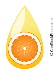 Orange juice splashing drop vector background