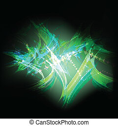 Green and blue abstract neon vector background for poster