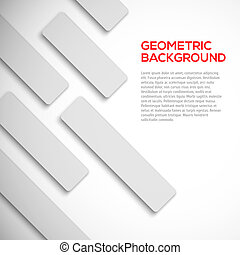 Abstract 3D geometric shapes background vector illustration