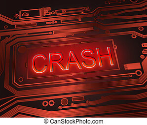 Crash concept. - Abstract style illustration depicting...