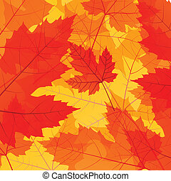 Leaves autumn vector background for poster or card