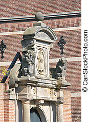 Sculptural composition in Dordrecht, Netherlands
