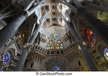 La Sagrada Familia, the unrealistic cathedral designed by...