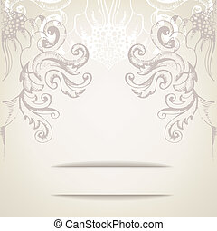 Vintage elegant background for invitations