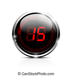 Electronic timer 15 seconds - Electronic brilliant timer 15...