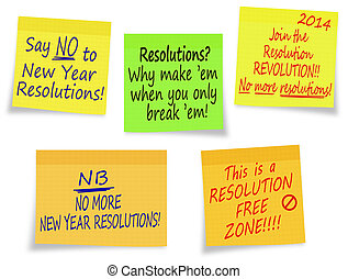 New Year Resolutions, no thanks - assorted messages - Not...
