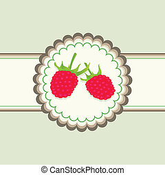 Raspberry vector background for poster