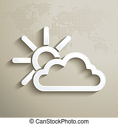 3D weathet forecast icon - vector illustration