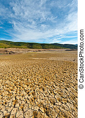 Riverbed - Parched Riverbed on the Bottom of Canyon in the...