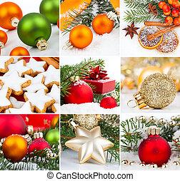 Christmas decoration set,  isolated on white