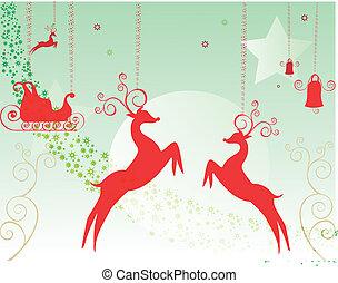 Seasons greetings card with deer st