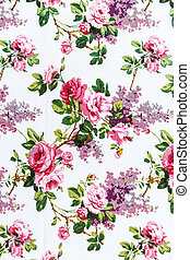 Rose bouquet Seamless pattern as background
