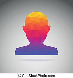 Silhouette of a person, conceptual icon